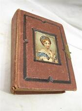 Antique Victorian Family Leather Photo Album Tin Type Children
