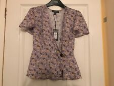 Primark size 6 purple peplum blouse floral BNWT