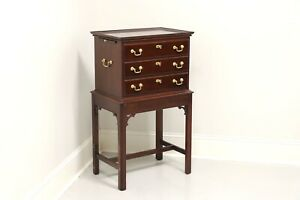STATTON Old Towne Cherry Chippendale Silver Chest / Tea Table