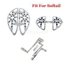 Chrome Floorboard Foot Pegs&Brake Arm Shift Lever Peg Fit For Softail 2000-2017