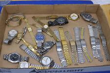 vintage watch lot seiko pulsar chronograph quartz mechanical bands automatic sq