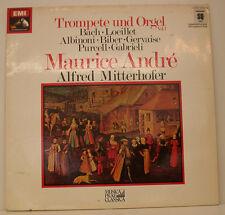 "TROMPETE UND ORGEL BACH LOEILLET ALBINONI BIBER ANDRE MITTERHOEFER 12"" LP (e80)"
