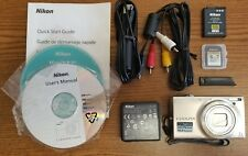 Nikon COOLPIX S6100 16.0MP Digital Camera - Silver - EXCELLENT USED