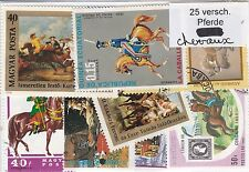 CHEVAUX 25 TIMBRES TOUS DIFFERENTS