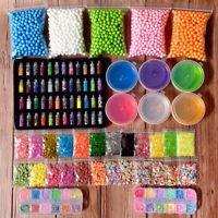 107PCS DIY Slime Kit Xmas Gift for Girls Boys Crystal Slime Making Arts Craft