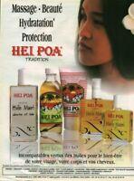 Publicité contemporaine beauté Hei Poa  2003 issue de magazine