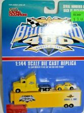 Racing Champions 1997 Brickyard 400 #4720 Race Hauler Truck, Race Car 1:144 RARE