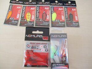 Nomura Micro Spoons Trout Area Aki Lake Fishing Mix 8 pcs. Lures Bait Hooks
