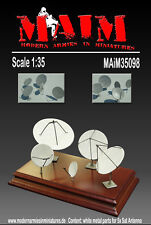 1/35 Scale  Satellite dish / Antenna Set Resin kit - diorama accessory set