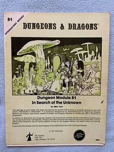 In Search of the Unknown AD&D Module B1 TSR Dungeons and Dragons