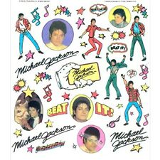 MICHAEL JACKSON VINTAGE 1984 RUB-ON TRANSFERS (8) ~ Party Supplies Collectable