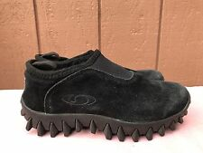 Salomon Black Suede Contagrip MOC Thinsulate Shoes US Womens 8.5 Mens 7 EUR 40
