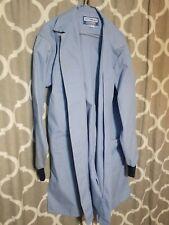 Vintage Blue Doctors Lab Coat Robes Uniform Practitioner Medical size Large