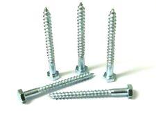 "Coach screws. Hex head. M6 x 3"". Zinc. Bolt. DIN571. Wood fixing. Pack of 10."