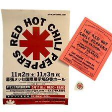 Red Hot Chili Peppers FLYERS 2002 Tokyo + 1999 Palladium Benefit  + Guitar Pick