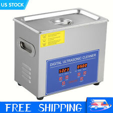 Commercial 6l Ultrasonic Cleaner Industry Heated Heater With Timer Jewelry Glasses