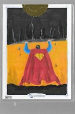 DC Legacy Superman 5 x 7  Sketchafex 9-case incentive Sketch Mark Spears