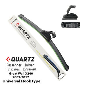 Universal Hook-Type Wiper Blade Pair For Great Wall SA220 2009-2012