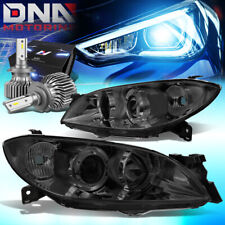 For 2004 2009 Mazda 3 Sedan 4dr Projector Headlight Lamps Withled Kit Slim Style Fits Mazda 3