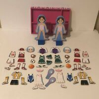 Melissa and Doug Magnetic Dress Up Wooden Doll Double Play Set 2 Dolls Julia