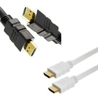 Premium HDMI Cable v1.4 Gold High Speed HDTV UHD 1080p @340MHz 3D 1M-9M
