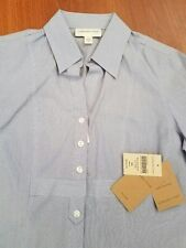 NWT Coldwater Creek Fine Striped No Iron Dress Shirt Misses 4 XS MSRP $69.95