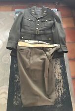 WW2 8th Army Lieutenant's Uniform Wool Dress Pants Belt Jacket Horstmann