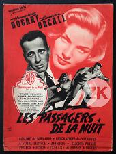 DARK PASSAGE Les Passagers de la nuit BOGART BACALL DAVES RAVO Film Noir DP 1947