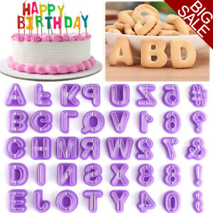 80X Alphabet Mold Fondant Icing Cookie Cutter Letter Number Cake Mold Decor Tool