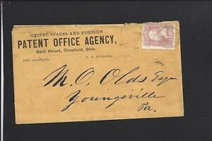 CLEVELAND,OHIO, #65 ADVT PATENT OFFICE AGENCY, PRINTED ENCLOSURE. &LETTER.