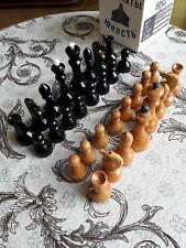 Vintage sowjetischen Schach UdSSR Holz Chessman-Full Set! NEU!