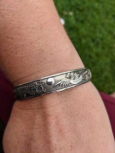 Sterling Silver Adjustable Dragon Bracelet