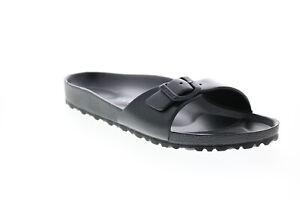 Birkenstock Madrid EVA 128163 Mens Black Narrow Slides Sandals Shoes