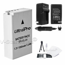 EN-EL24 Replacement Battery and AC/DC Charger for Nikon 1 J5 Digital Camera