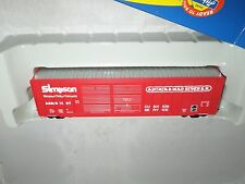Athearn R-T-R Ho Arcata & Mad River A&Mr 50' Fmc Dd Box Red w/Slvr Roof #1016