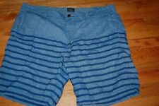 "Mens J. Crew Stanton cotton shorts blue black size 38 9"" inseam 100% cotton"