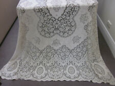FILIGREE WINDSOR NOTTINGHAM LACE XLONG BANQUET TABLECLOTH ~ UNUSED WITH TAG