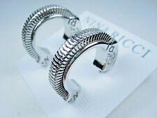 Demi Hoop Earrings 1510 Nina Ricci Rhodium Plated Pierced
