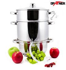 Grafner® Dampfentsafter Entsafter Edelstahl Induktion Obst Saftpresse 23L Presse