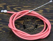 Pink Brake Cable Kit Housing Button Fixie Bicycle BMX MTB Cruiser Bike Brakes 6'