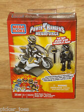 NEW Mega Bloks 5828 POWER RANGERS MEGAFORCE Bike Mode BLACK RANGER HERO RACER