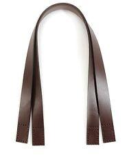 "24.1"" byhands 100% Genuine Leather Purse Handles, Bag Strap, Brown (20-4101)"