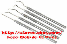 EMBOSSING  5-Piece Stainless Steel  PICK TEST PROBE  Small Tool Set   Angle Tips