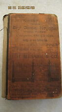 RARE 1884 Evansville IN Directory Alphabetical List of Residents & Businesses