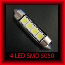 2 LAMPADINE SILURO 39mm 4 LED SMD 5050 - LUCI TARGA ABITACOLO- LAMPADA T11 C5W