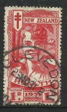 NEW ZEALAND 1931 1d + 1d RED SMILING BOY HEALTH STAMP Single USED