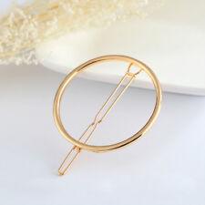 Gold&Silver Fashionable Decorations Brief Hairpin Women's Cute Metal Hair Clip