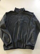 Men's Nautica Gray Fleece Half Zip Sweatshirt, Size Medium