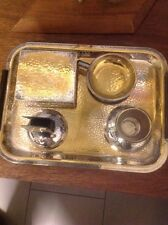 Raucherset WMF Bienenkorb-Stempel,Silber-Gold ,Art Deco,Hammerschlag