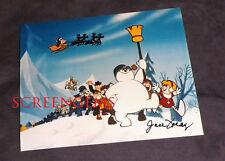 June Foray signed photo Frosty the Snowman TV voice Karen RARE Rankin Bass mint